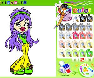 Игры куклы Братц (Bratz games: Раскрась куклу Братц