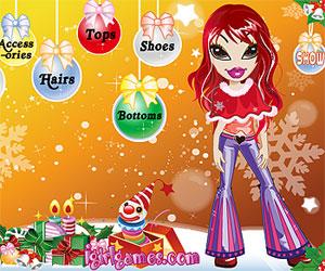 Игры куклы Братц (Bratz games: Братц модный новый год – наряди куклу в новогодний наряд