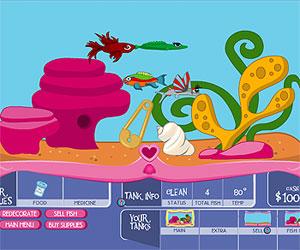Игры куклы Братц (Bratz games: Аквариум с рыбками
