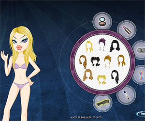 Игры куклы Братц (Bratz games: Наряди куклу Братц