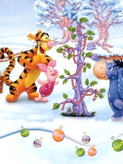 Тигра, Пяточок равно ослик Иа наряжают рождественское древесина предварительно новым годом