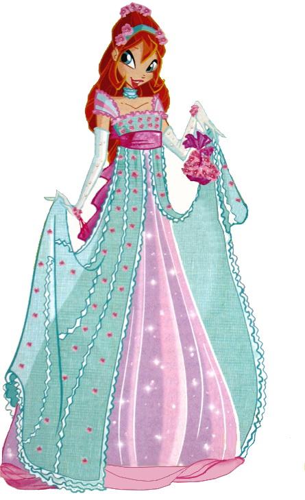 Блум в парадном вечернем платье winx club