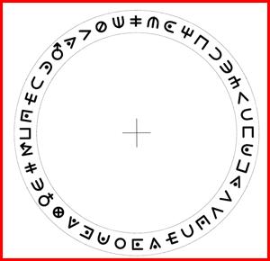 Делаем  шифровальный диск Винкс, рисунок 1