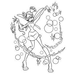 Раскраски Винкс - Муза