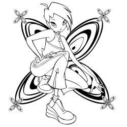 Tecna Winx Club - Текна, расскраски, Coloring Book