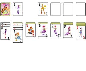 Игры Винкс Клуб (Winx Club - игры для девочек: Пасьянс Косынка с феями Винкс Клуба